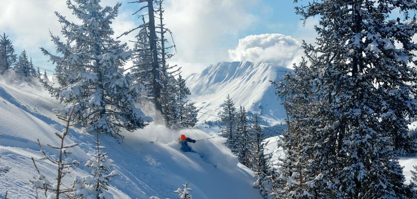 La Clusaz - Skiing off piste
